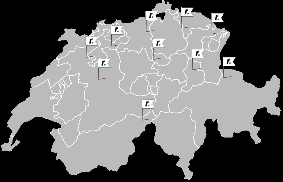 Karte Montagepoints Schweiz