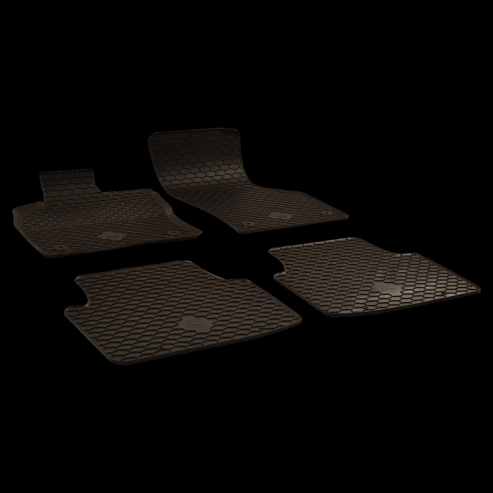 tapis de sol en caoutchouc noir pour bj