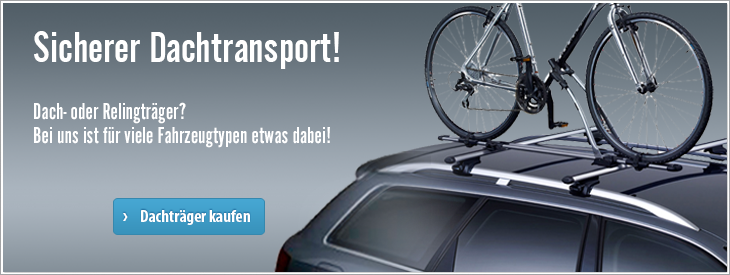 Sicherer Dachtransport.