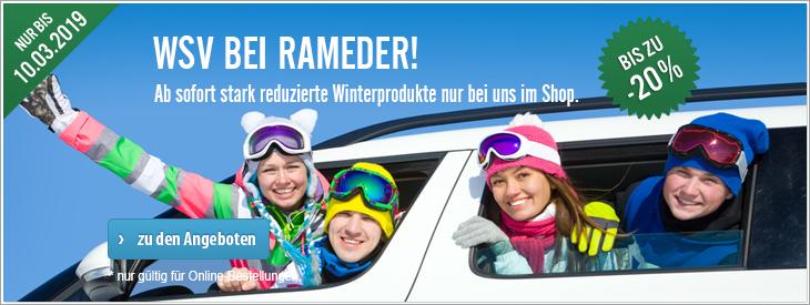 WSV bei Rameder!  Ab sofort stark reduzierte Winterprodukte nur bei uns im Shop.